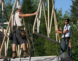 construction bois rond