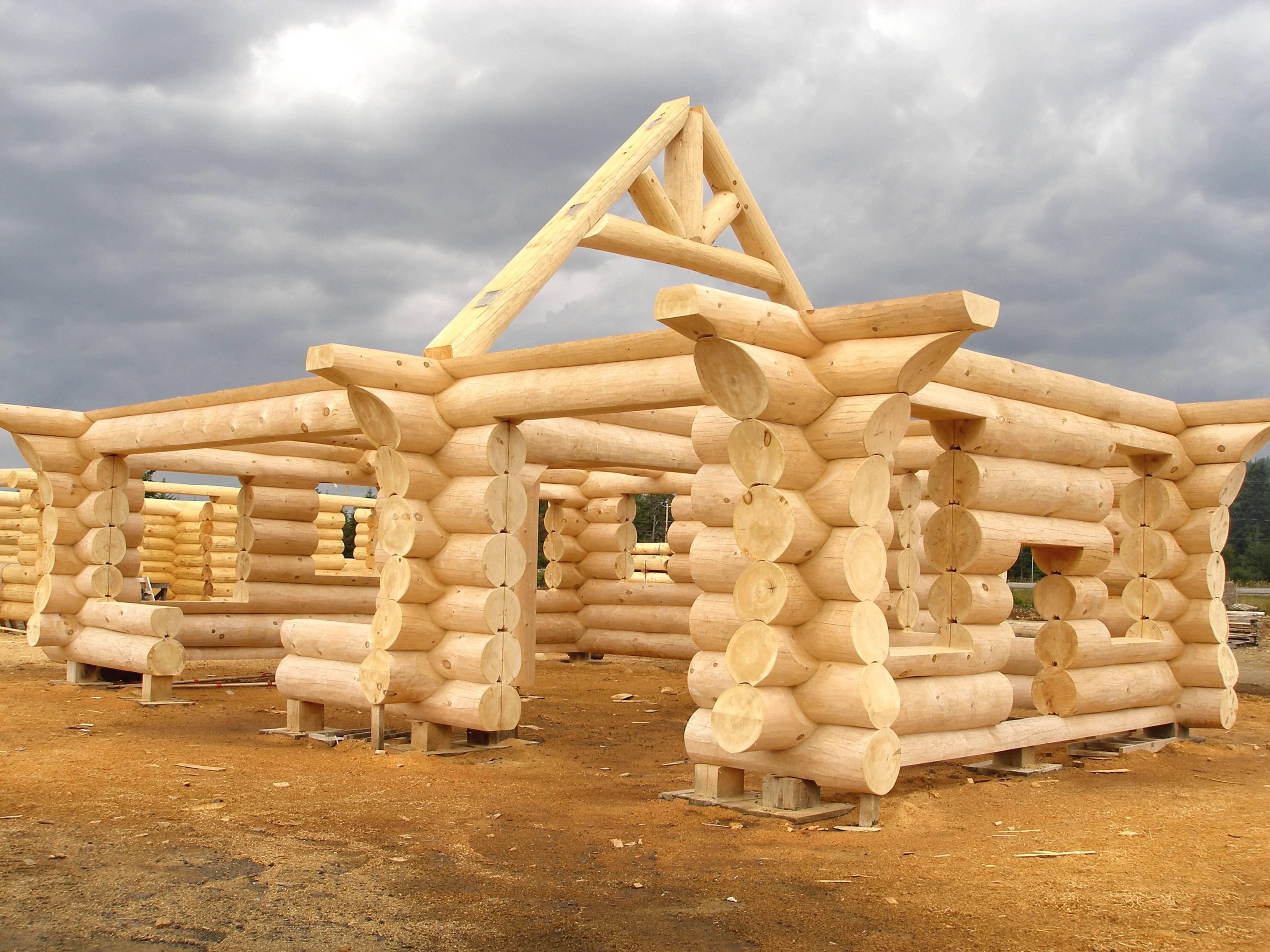 construction bois rond technique