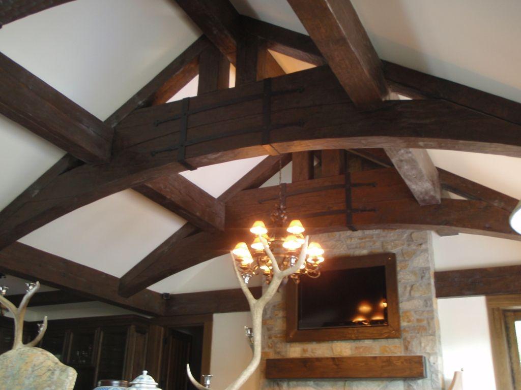 ferme de toit d corative en pin blanc harkins. Black Bedroom Furniture Sets. Home Design Ideas