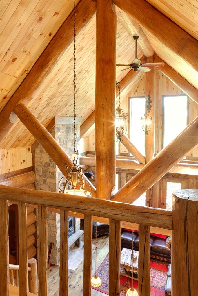 ferme de toit en bois rond harkins. Black Bedroom Furniture Sets. Home Design Ideas