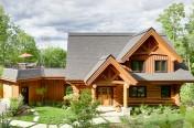Maison de bois rond à Mont-Tremblant