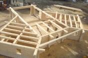 Structure de bois rond sur mesure