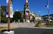 Poteaux pour drapeau Ironman Mont-Tremblant