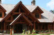 Timber frame home entrance