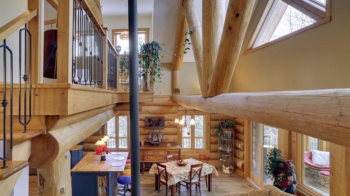 structure ferme de toit en billots harkins. Black Bedroom Furniture Sets. Home Design Ideas