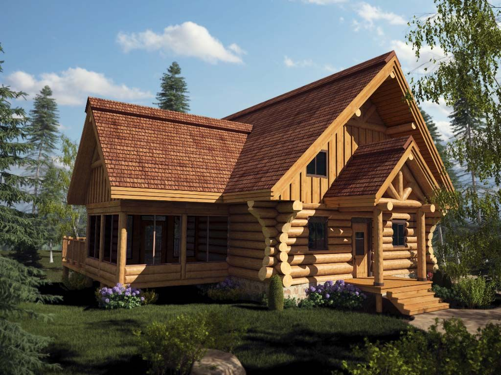 Log homes and timber frame portfolio - Les facades des maisons ...