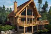 Harkins log house model in 3D