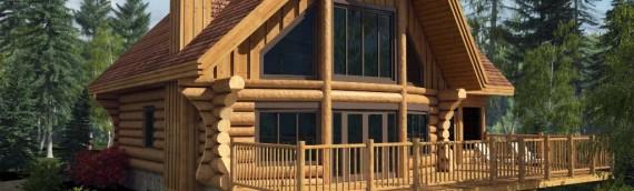 "Harkins Log house model ""du Lac"" in 3D"