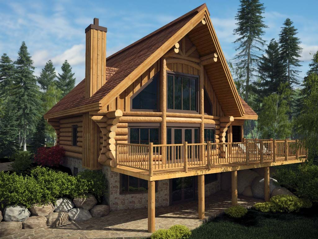 Log homes and timber frame portfolio for A frame log house