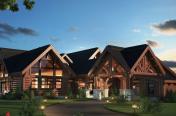 Maison avec Timber Frame en 3D