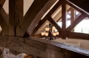 Ferme de toit structurale en bois massif – Timber frame