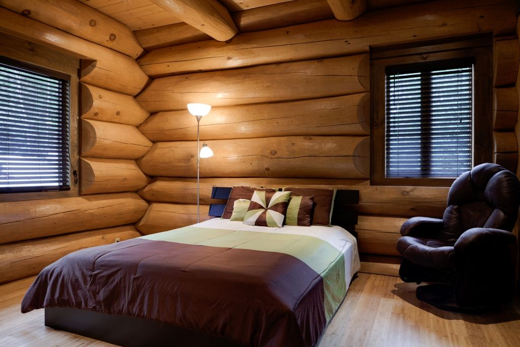 Confort et détente dans une maison de bois rond