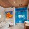 Charpente maison bois massif - salle de bain