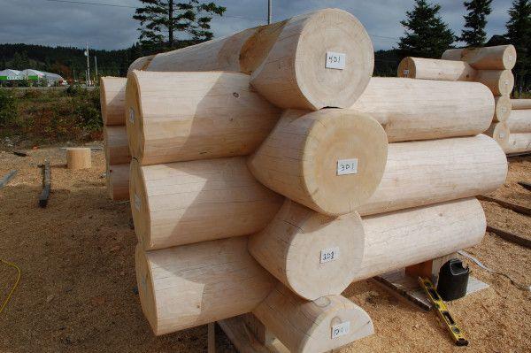 bois rond pour maison