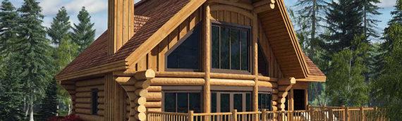 Concevoir sa maison de bois rond pour minimiser l'entretien!